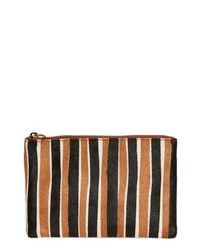 Multi colored Vertical Striped Clutch