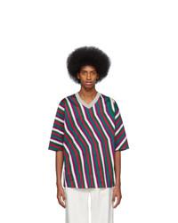 Issey Miyake Men Grey Dyeing Stripe T Shirt