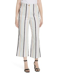 Tory Burch Stripe Crop Pants