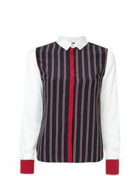 GUILD PRIME Striped Contrast Trim Shirt