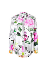 Off-White Striped Floral Shirt