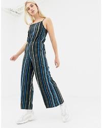Noisy May Stripe Wide Leg Cami Jumpsuit