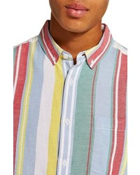 Topman Candy Stripe Shirt