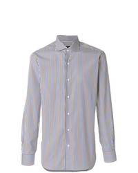 Barba Club Collar Striped Shirt