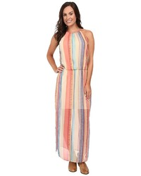 Multi colored Vertical Striped Maxi Dress