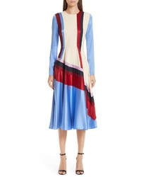 Roksanda Etta Colorblock Silk Dress