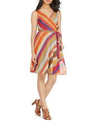Plus striped wrap dress medium 1252092