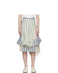 JW Anderson Multicolor Stripe Parasol Wrap Skirt