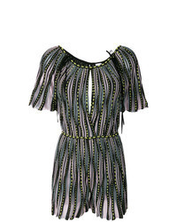 Multi colored Vertical Striped Playsuit