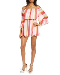 Endless Rose Stripe Off The Shoulder Romper