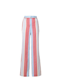 Ps By Paul Smith Striped Wide Leg Trousers