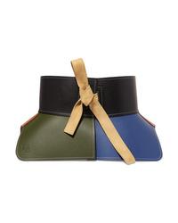 Loewe Obi Med Color Block Leather Waist Belt