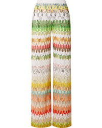 Missoni Crochet Knit Wide Leg Pants