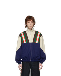 Gucci Blue And Off White Track Jacket