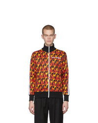 Palm Angels Multicolor And Black Flames Track Jacket