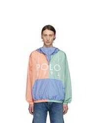 Polo Ralph Lauren Multicolor Color Block Logo Popover Jacket