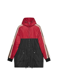 Gucci Nylon Coat With Stripe
