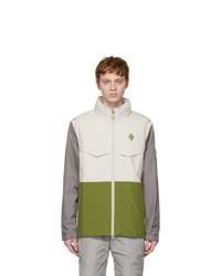 A-Cold-Wall* Off White And Green Scafell Storm 3l Jacket