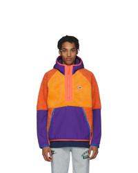 Nike Orange Sherpa Fleece Pullover Jacket