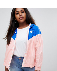 Nike Plus Windrunner Jacket In Pink And Blue