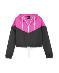 Nike Two Tone Cropped Hooded Shell Jacket