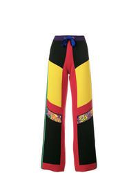 Multi colored Wool Wide Leg Pants