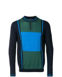 Multi colored Zip Neck Sweater