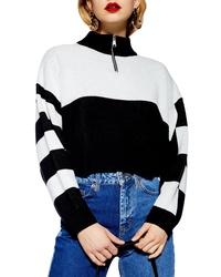 Topshop Colorblock Zip Pullover