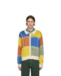 Noon Goons Multicolor Colorblock Zip Sweater