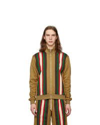 Gucci Tan Jersey Striped Sweater