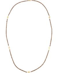 Jude Frances Judefrances Jewelry Long 18k Garnet Beaded Station Necklace 36l