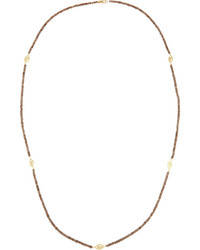 Jude Frances Judefrances Jewelry Long 18k Garnet Beaded Station Necklace 36l