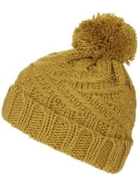 Cable Knit Pom Beanie