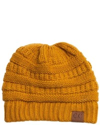 Cc Mustard Knit Beanie