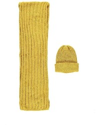 Forever 21 Chenille Hat Scarf Set