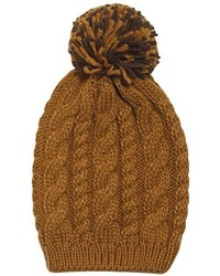 D&Y Solid Cable Knit With Pom