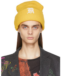R13 Yellow Oversized Embroidery Beanie