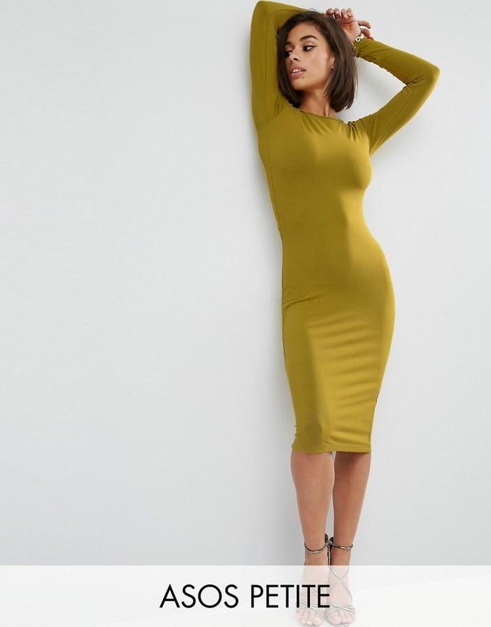 Asos bodycon midi dress with long sleeve