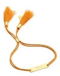 Chloé Chloe Messages Wild Engraved Cotton Bracelet
