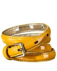 Circa Merona Patent Mustard Belt Yellow Xl