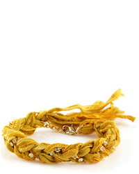 Ettika Yellow Braided Bracelet