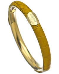 Gala By Daniela Swbe Hope Mustard And Gold Bangle Bracelet