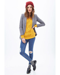 Forever 21 Cable Knit Fisherman Sweater