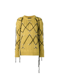 Calvin Klein 205W39nyc Intarsia Knit Sweater