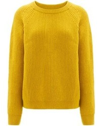 Chinti and Parker Mustard Lambswool Crew Neck Jumper
