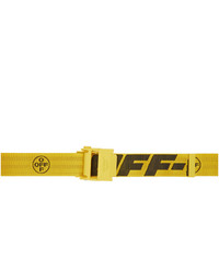 Off-White Yellow 20 Industrial Belt