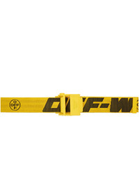 Off-White Yellow Industrial 20 Belt