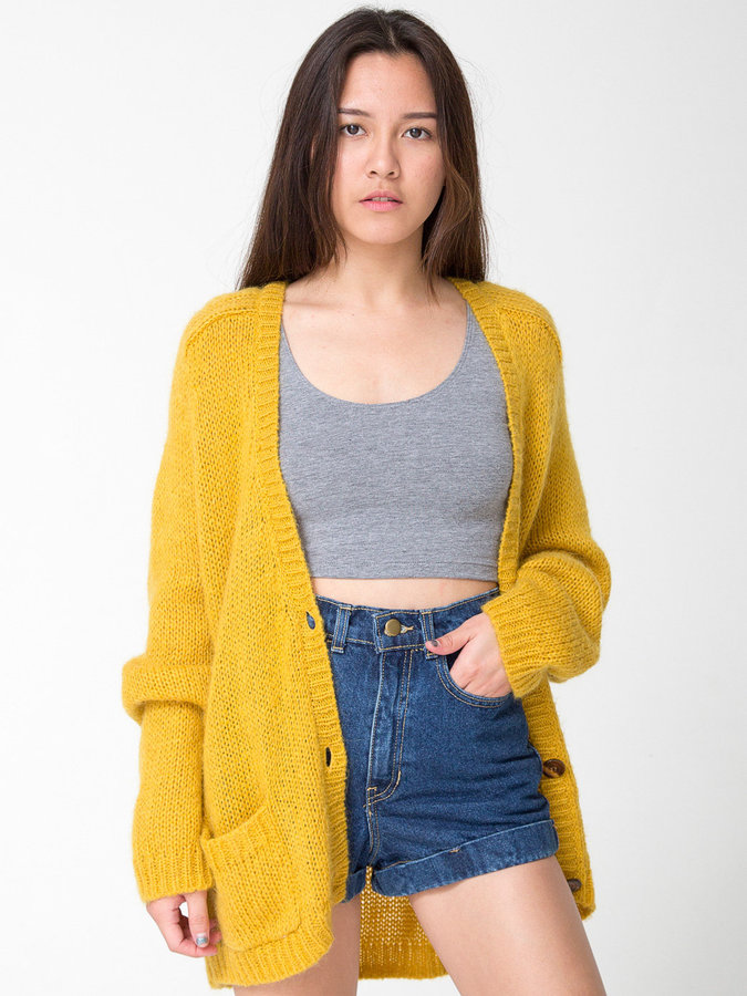 American Apparel Mohair Loose Cardigan | Where to buy & how to wear