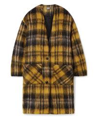 Amiri Oversized Checked Mohair Blend Coat