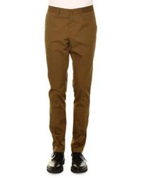 Basic flat front chino pants khaki medium 655153
